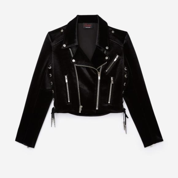 ba1d155345 The Kooples Jackets & Coats | Black Velvet Biker Jacket | Poshmark